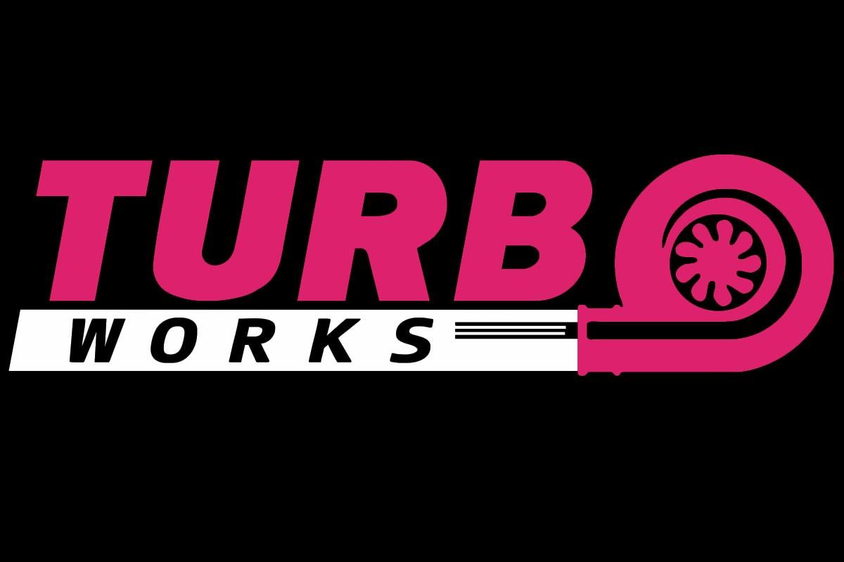 Naklejka TurboWorks Fioletowo-Biała - GRUBYGARAGE - Sklep Tuningowy